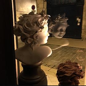 atelier vitrine la nuit